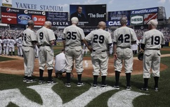 Old Timers Day at Yankee Stadium